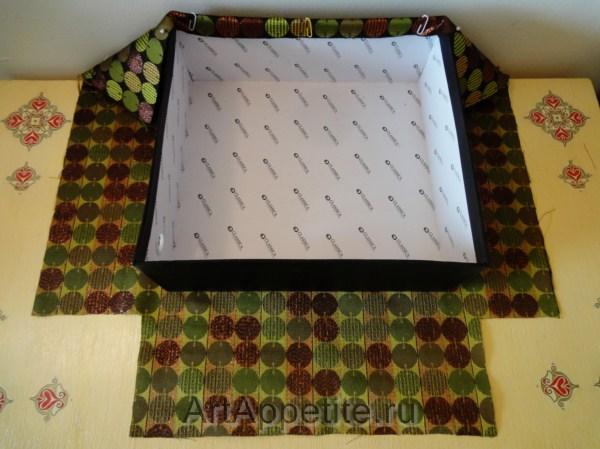 58251913 Как украсить коробку тканью своими руками. Как обклеить коробку тканью мастер-класс